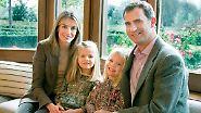 … und seinen Töchtern Leonor und Sofia ein relativ normales und bescheidenes Leben.
