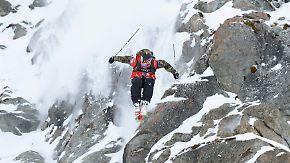 Freeride Worldtour in Chamonix: Extrem-Skifahrer legen spektakuläre Abfahrt hin