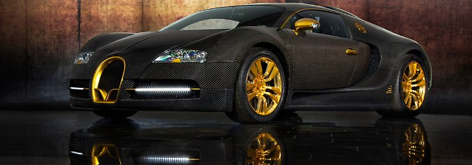 interpretation des bugatti veyron 16 4 mansory gl nzt gold gelb n. Black Bedroom Furniture Sets. Home Design Ideas