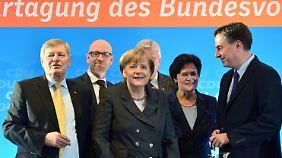 Merkels Koalitionskurs in der Kritik: CDU setzt im Europawahlkampf auf McAllister