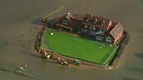 Hochwasser in Südengland: Brite baut sich privaten Deich