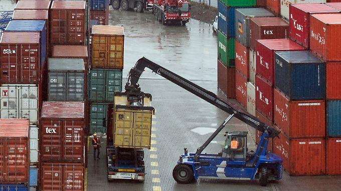 Vor allem die Exporte trieben am Jahresende das Wachstum.