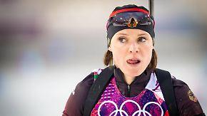 Doping im deutschen Biathlon-Team: Sachenbacher-Stehle in Sotschi positiv getestet