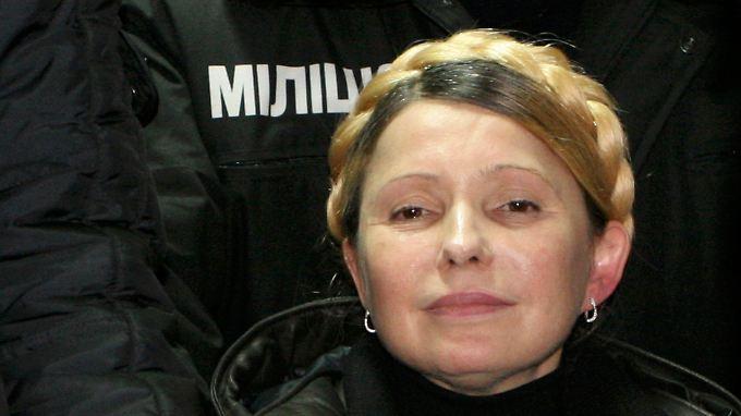 Timoschenko kurz nach ihrer Freilassung.