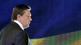"""Vom Präsidenten zum """"Massenmörder""""?: Janukowitsch hält sich zurzeit versteckt."""
