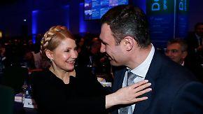 Konkurrenten mit demselben Ziel: Timoschenko stiehlt Klitschko die Show