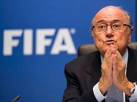 Fifa-Präsident Sepp Blatter ist nicht bei allen Brasilianern willkommen.