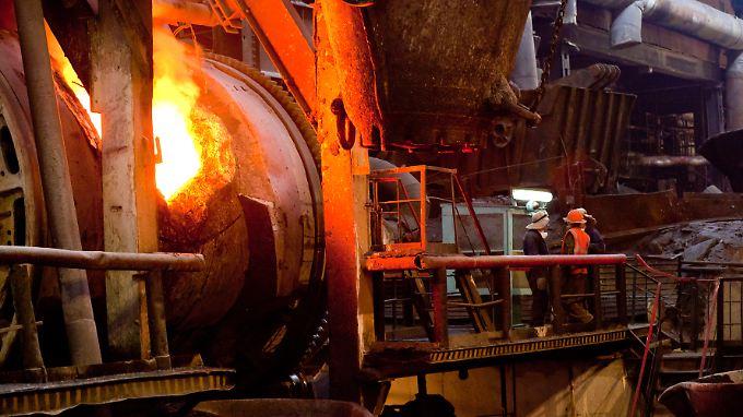 Flüssiges Kupfer: Die Rohstoffmärkte sind ein empfindlicher Indikator für einen bevorstehenden Abschwung.
