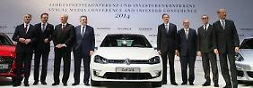 Fast der komplette VW-Vorstand: Zusammen bekommen sie für 2013 rund 64 Millionen Euro.