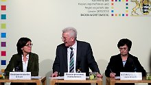 Die Landeschefs Malu Dreyer, Winfried Kretschmann und Christine Lieberknecht verkünden die Senkung.