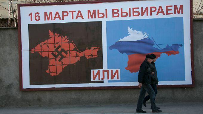 Am Sonntag sind die Bewohner zur Abstimmung über die Zukunft der Krim aufgerufen.
