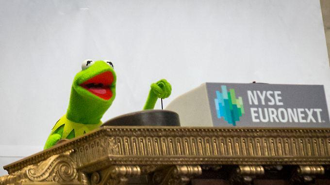 Kermit läutet am Montag den Handelsbeginn ein.