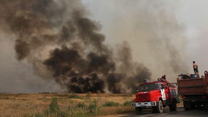 Russische Bevölkerung im Unklaren: Verstrahlte Gebiete brennen