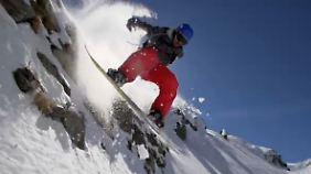 Steil abwärts im Pulverschnee: Für Ski-Freerider ist keine Felskante zu scharf