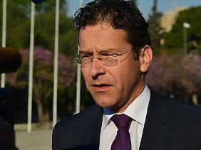 Jeroen Dijsselbloem beim Ecofin-Treffen beim in Athen: Die Finanzminister der EU und der Eurogruppe besprechen mit EU-Beamten und den Zentralbankchefs die Lage.