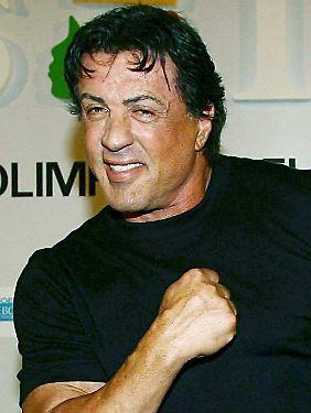 Sylvester Stallone schwört auf die Einnahme von Testosteron.