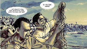Rashid (l.) und Nadim kommen in Marokko eher schlecht als recht über die Runden.