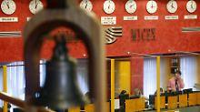Blick in den Handelssaal der Moskauer Börse.