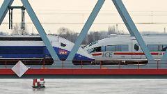 Alstom baut den TGV (l.), Siemens den ICE (r.).