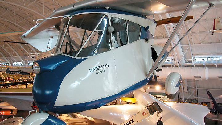 """Am 21. März 1937 führte Watermann mit seinem """"Aerobile"""" den Jungfernflug durch."""