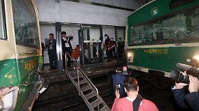 Zugunglück in Seoul: Zwei U-Bahnen prallen aufeinander