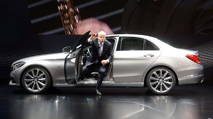 Daimler-Chef Dieter Zetsche bei der Präsentation der neuen Mercedes-Benz C-Klasse Anfang März.