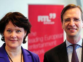Die beiden Co-Vorsitzenden der Mediengruppe RTL, Anke Schäferkordt und Guillaume de Posch.