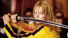 … in dem sie als Braut das Hattori-Hanzo-Schwert zückt.