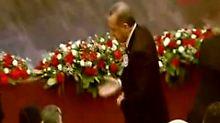 Erdogan wollte die Kritik nicht annehmen und verließ die Veranstaltung.