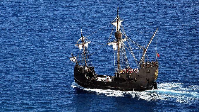 """Seit mehr als 500 Jahren liegt die """"Santa María"""" (hier ein Nachbau) auf dem Meeresboden. Kann das Holz eine solche Zeit überdauert haben?"""