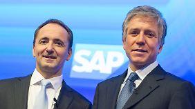 Die beiden SAP-Chefs Jim Hagemann Snabe (l) und Bill McDermott (r.)
