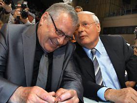 Lothar Bisky und Oskar Lafontaine waren von 2007 bis 2010 Parteichefs der Linken.