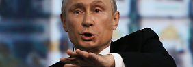 Locken und etwas Drohen: Putin tastet sich vorsichtig voran