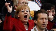 Dieses Mal halfen die Anfeuerungsrufe: Das Spiel endete 0:4 (0:1) für Deutschland.