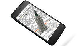 Das Amazon Fire Phone erzeugt durch eine ausgeklügelte Kameratechnik 3D-Effekte.