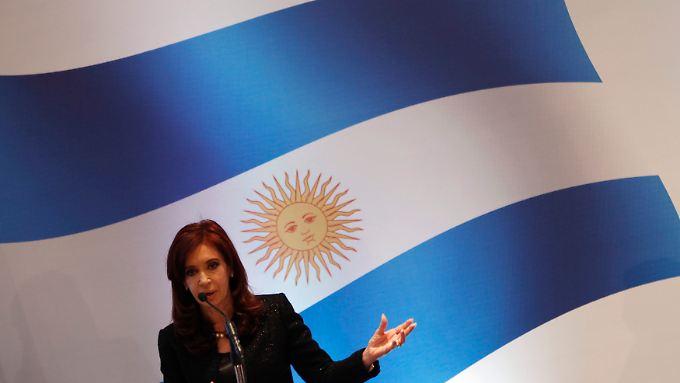 Muss verhandeln: Argentiniens Präsidentin Kirchner.