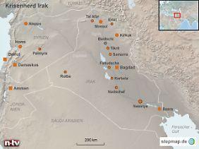 Zerrissenes Land: Im Nordosten hoffen Kurden auf einen eigenen Staat, im Westen unterwandern extremistische Kämpfer aus Syrien den irakischen Staat.