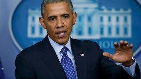 """""""Gezielte Schritte"""" im Irak: Obama balanciert auf dem rhetorischen Drahtseil"""
