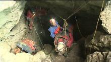 Westhauser war bei der Erkundung der Höhle von einem Steinschlag getroffen worden.