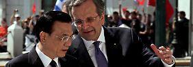 Männergespräche: der griechische Premier Antonis Samaras (r) mit seinem chinesischen Kollegen Li Keqiang.