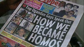 """""""Wie wir schwul wurden"""": Die Zeitung """"Red Pepper"""" zeigte ein Bild Lusimbos."""