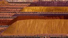Eisenerzberge von Rio Tinto im westaustrallischen Parker Point.
