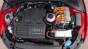 Unter der Motorhaube des A3 e-tron herrscht Hochspannung.