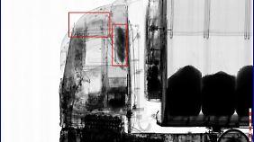 Ein Röntgenbild des Zolls zeigt diesen spektakulären Amphetaminfund.