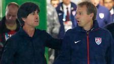 ... Joachim Löws (l.) und Jürgen Klinsmanns, des ehemaligen deutschen Trainerduos.