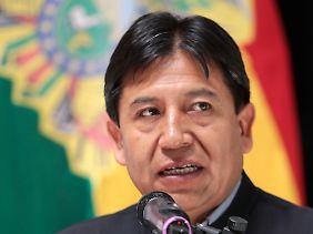 Außenminister Choquehuanca stammt wie Präsident Morales vom Volk der Aymara ab.