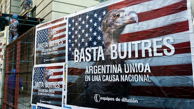 Hedgefonds haben erfolgreich auf ihre Forderungen gegenüber Argentinien gepocht.