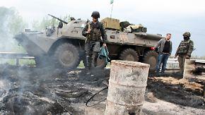 Militäroffensive in der Ostukraine: Separatisten geben Hochburg Slawjansk auf