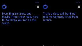 Man muss Cortana richtig fragen, um die richtige Antwort zu bekommen.