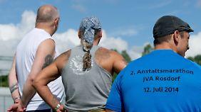 Nicht alle laufen die Marathonstrecke.